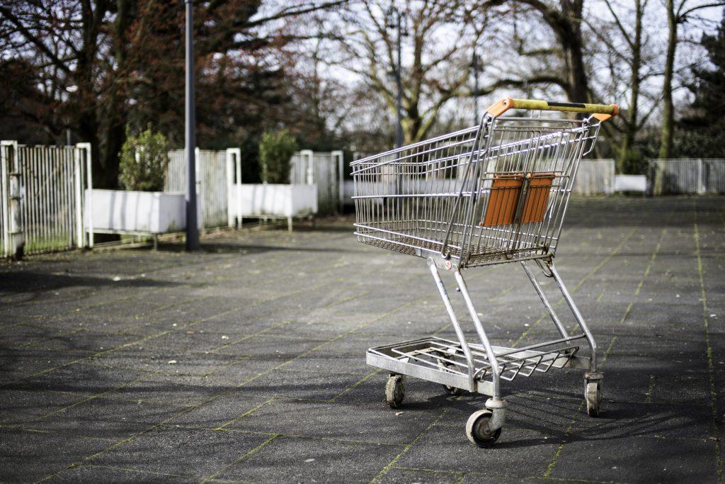Kooiplein supermarkt winkelwagen